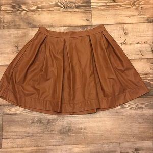 Honey Punch Brown Skater Skirt